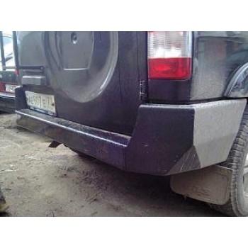 Бампер силовой задний УАЗ Патриот Рысь 2015 с алюминиевой накладкой