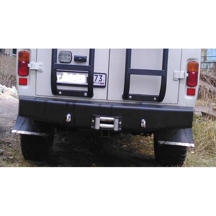 Бампер силовой УАЗ 452 задний Аллигатор задний со скрытой площадкой под лебедку