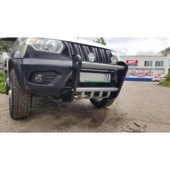 Кенгурин УАЗ Патриот Мини с защитой двигателя с 2015 года
