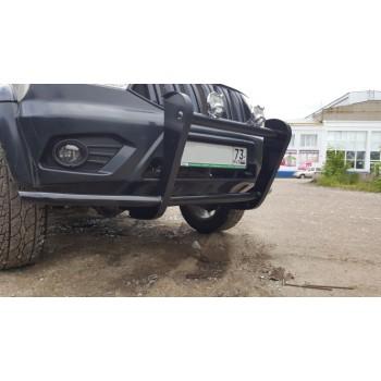 Кенгурин УАЗ Патриот Мини с защитой двигателя и защитой бампер с 2015 года
