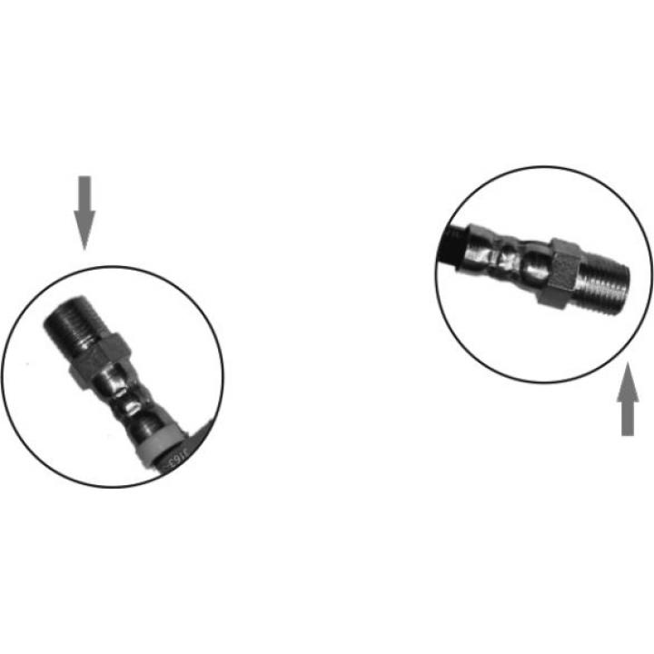 Шланг тормозной передний соединительный  для а/м производства ОАО