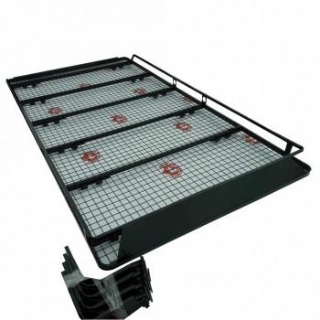 Багажник ГАЗель РЫБАК 12 съемных опор с роликом для загрузки лодки либо длинномера, с передним дефлектором покрытие сеткой