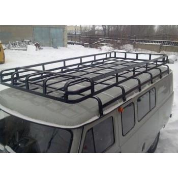 Багажник на УАЗ 452 буханка Сахалин-2. 12 опор 3.20 м