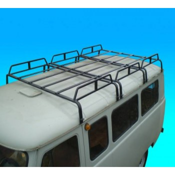 Багажник на УАЗ 452 буханка трехсекционный 12 опор