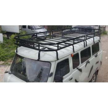 Багажник УАЗ 452 Викинг 16 опор кронштейн под галогенки