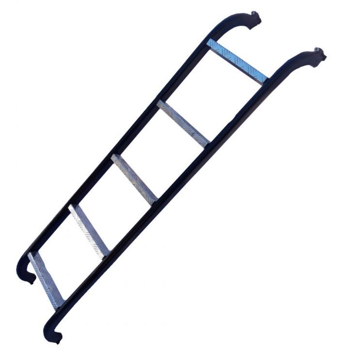 Лестница на Газель овальный профиль 50х25 мм порошковая покраска алюминиевые ступеньки