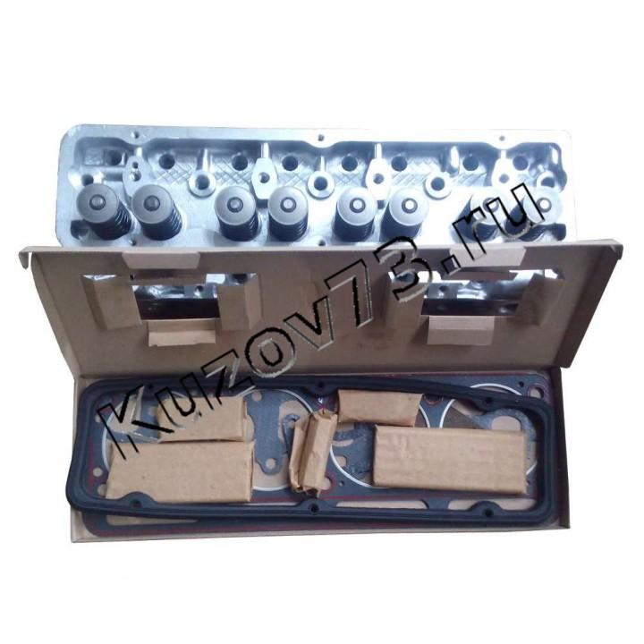 Головка блока цилиндров УМЗ 4216 инжектор под ГБО 4216.1003001-20 Евро-3 с прокладками и крепежом с отверстиями под форсунки