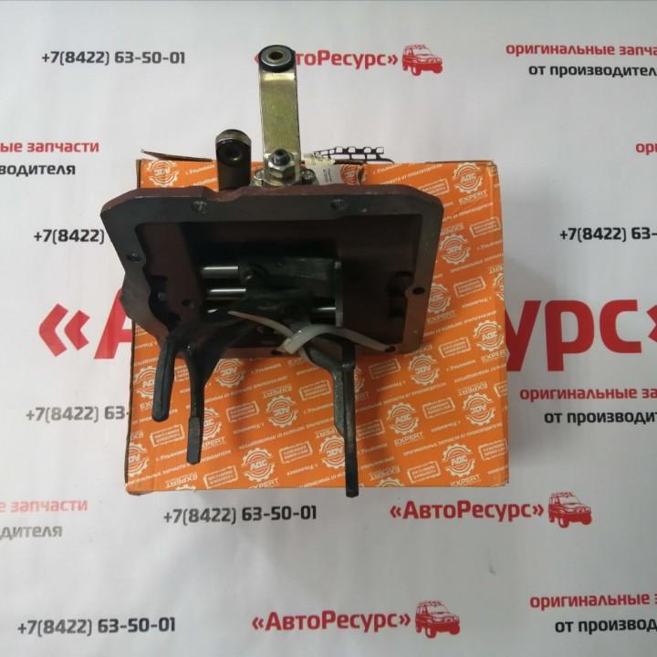 Крышка КПП УАЗ буханка механизм переключения КПП 452 нового образца АДС