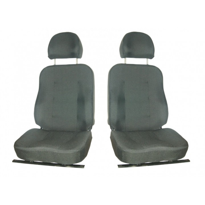 Сидения на УАЗ 452 передние Люкс водительское на салазках комплект 2 шт